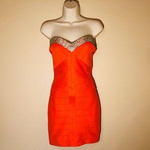 Sky mini strapless bodycon dress size medium